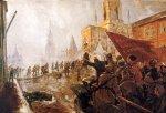 Maalaus punakaartista menemässä Kremliin